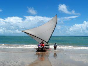 la spiaggia di Cumbuco, vicino a Fortaleza, in Brasile